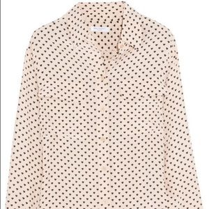 Small heart printed equipment blouse